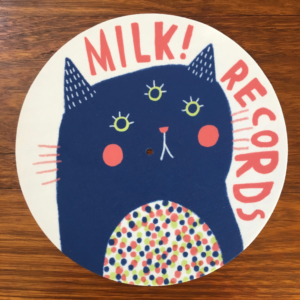 MILK! RECORDS Fluffy Cat SLIPMAT. . Official merchandise exclusive to Milk! Records Store.