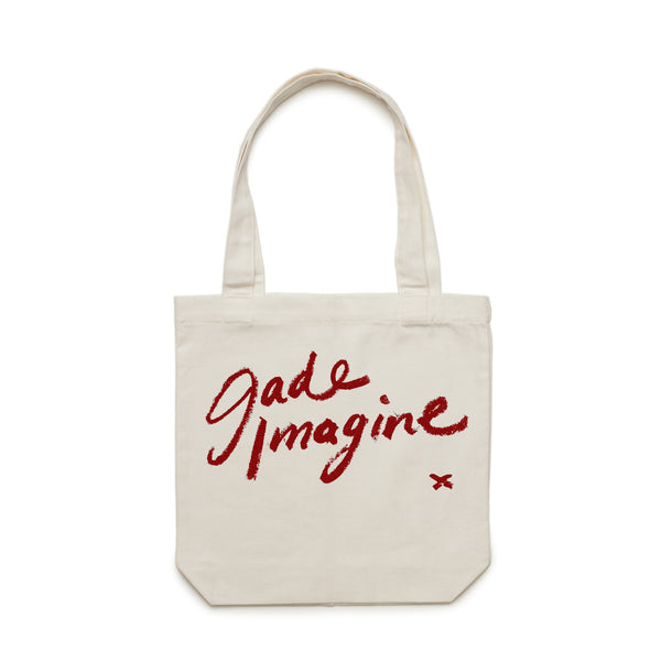 JADE IMAGINE Lipstick Writing TOTE BAG