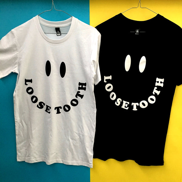 LOOSE TOOTH Smiley Face TSHIRT. TSHIRT. Official merchandise exclusive to Milk! Records Store.