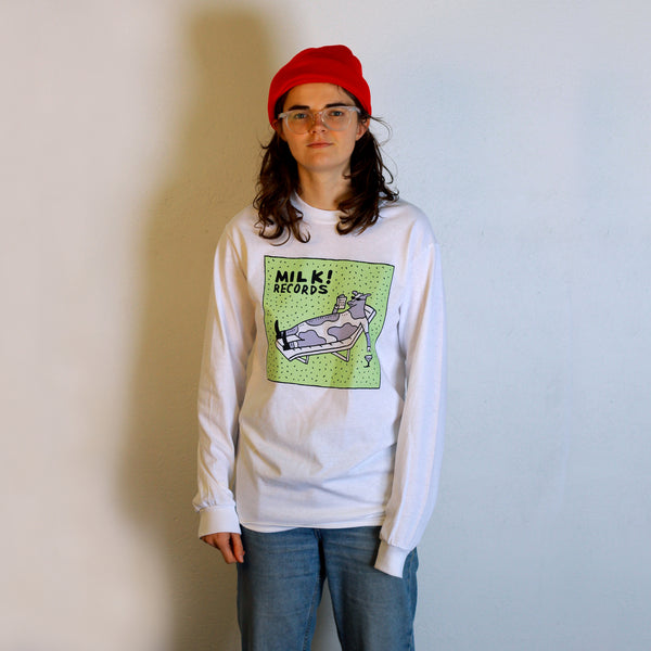 MILK! RECORDS Steph Hughes [ARTIST SERIES] LONG SLEEVE TSHIRT *LAST SIZES*