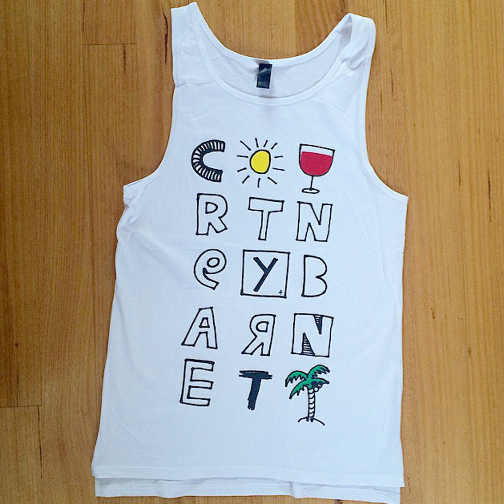 COURTNEY BARNETT Tropical SINGLET. SALE, SINGLET. Official merchandise exclusive to Milk! Records Store.