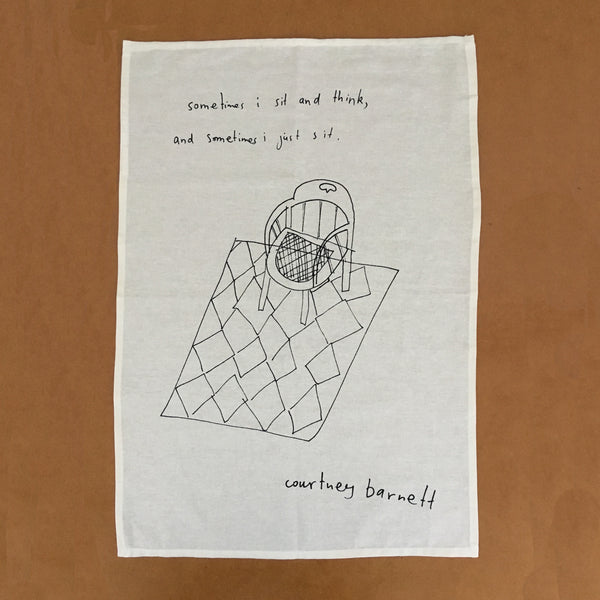 COURTNEY BARNETT Sometimes I Sit And Think... TEATOWEL. SALE, TEATOWEL. Official merchandise exclusive to Milk! Records Store.