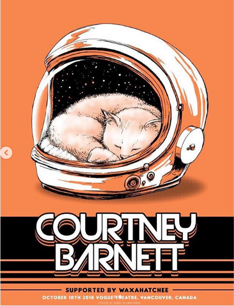 COURTNEY BARNETT [VANCOUVER - 10 OCTOBER 2018 - BARRY BLANKENSHIP] Assorted Tour Posters