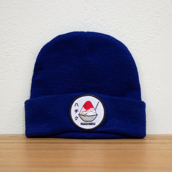 HACHIKU Japanese Dessert BEANIE [ROYAL BLUE]
