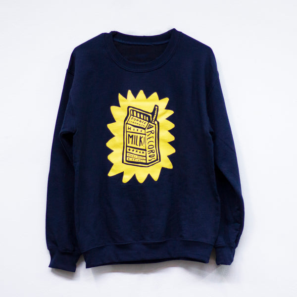MILK! RECORDS Make Mine A Triple - Steph Hughes [ARTIST SERIES] JUMPER [NAVY]