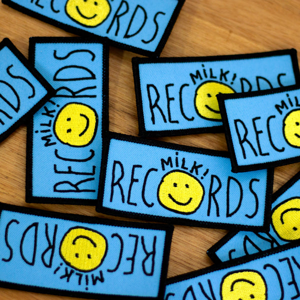 MILK! RECORDS Smiley Face PATCH