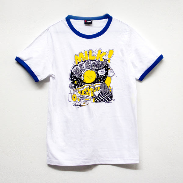 MILK! RECORDS Montero Moon - Ben Montero [ARTIST SERIES] T-SHIRT [BLUE]