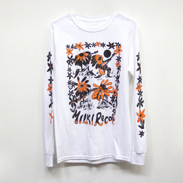 MILK! RECORDS Flowerbed Rock - Mel Grisa [ARTIST SERIES] LONGSLEEVE T-SHIRT