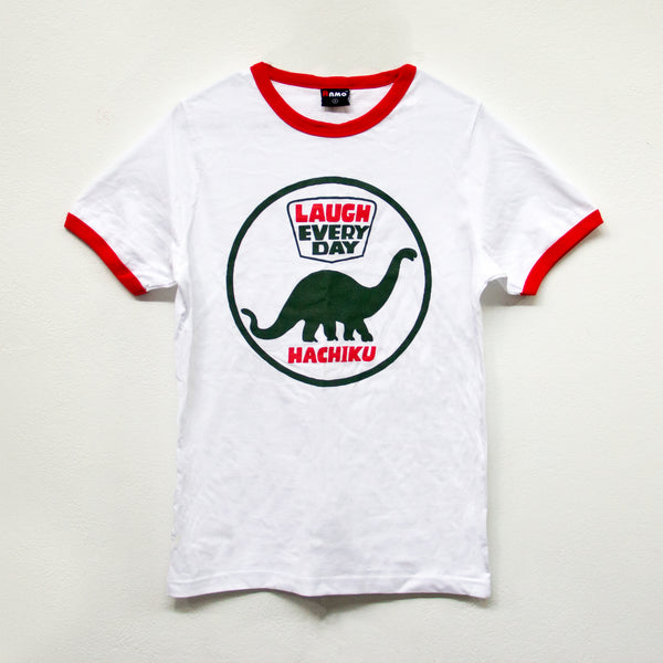 HACHIKU Laugh Everyday TSHIRT [RED / GREEN] *ONLY SIZE L & XL*