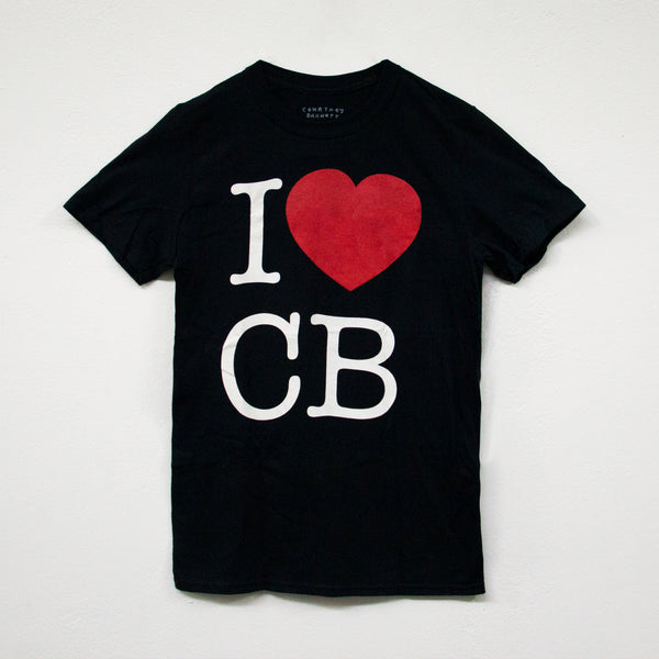 "COURTNEY BARNETT ""I LUV CB"" TSHIRT [BLACK]"