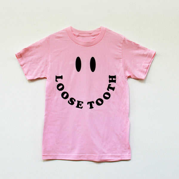 LOOSE TOOTH Smileys TSHIRT [PINK]