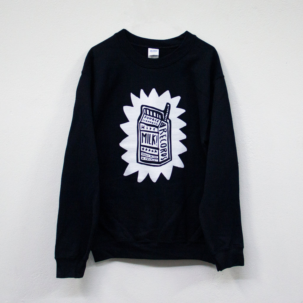 MILK! RECORDS Make Mine A Triple - Steph Hughes [ARTIST SERIES] JUMPER [BLACK]