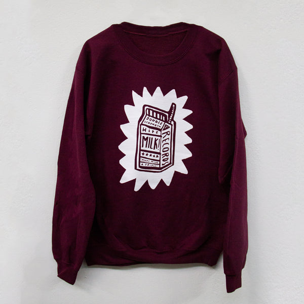 MILK! RECORDS Make Mine A Triple - Steph Hughes [ARTIST SERIES] JUMPER [MAROON]