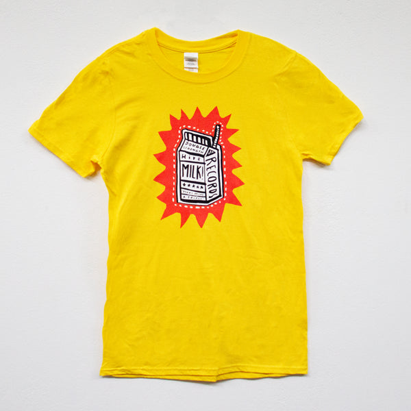 MILK! RECORDS Make Mine A Triple - Steph Hughes [ARTIST SERIES] T-SHIRT [YELLOW]