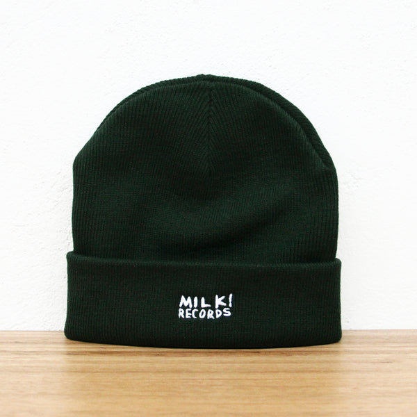 MILK! RECORDS Beanie [PINE GREEN]
