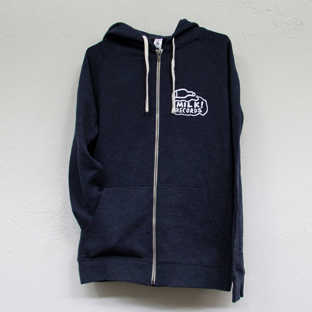 MILK! RECORDS Milk Logo ZIP HOODIE