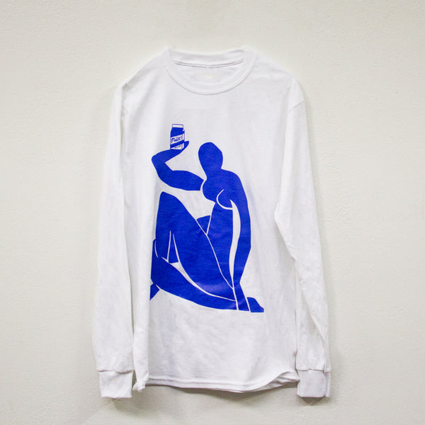 MILK! RECORDS Milk Matisse - Rose Blake [ARTIST SERIES] LONG SLEEVE T-SHIRT