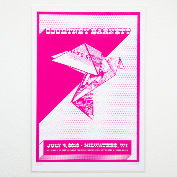 COURTNEY BARNETT [MILWAUKEE - 4 JULY 2019] Assorted Tour Posters