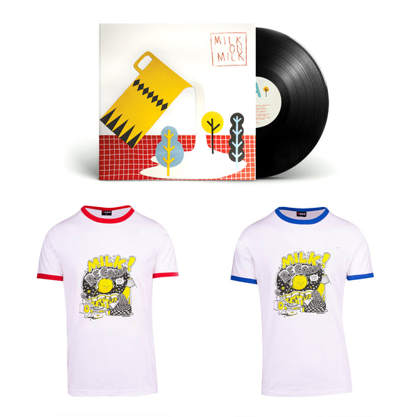 "MILK! RECORDS Milk on Milk 12"" VINYL + Montero Moon TSHIRT [RED]"
