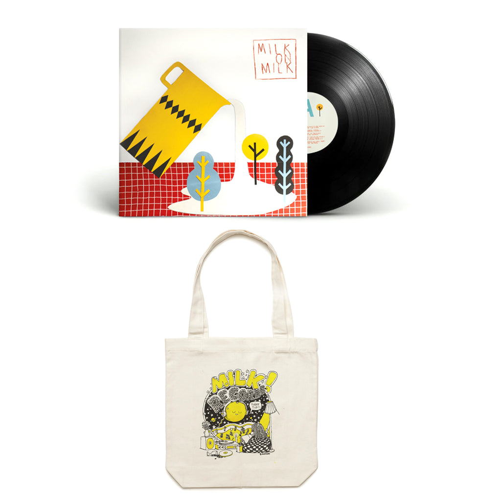 "MILK! RECORDS Milk on Milk 12"" VINYL + Montero Moon TOTE"