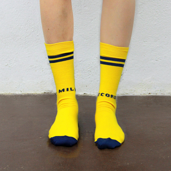 MILK! RECORDS SOCKS [YELLOW]