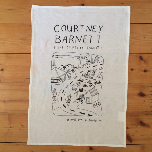 COURTNEY BARNETT Boxing Day On Johnson Street TEATOWEL