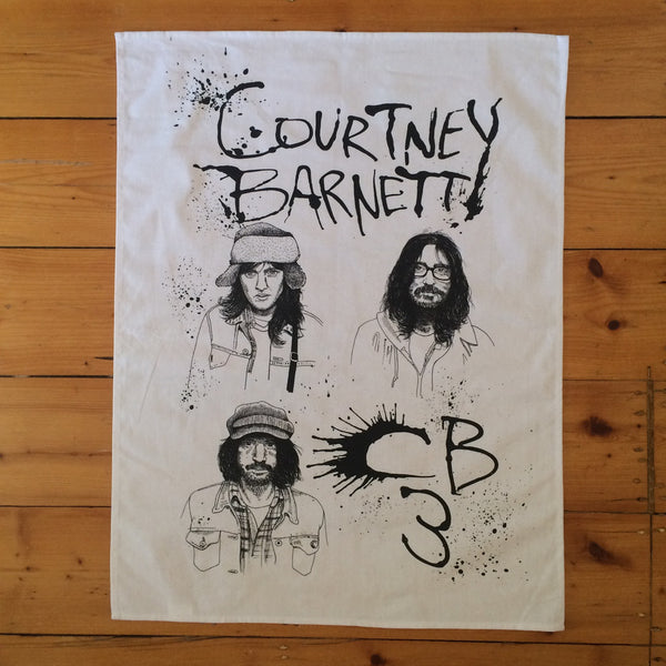 COURTNEY BARNETT Streepy [ARTIST SERIES] TEATOWEL. ARTIST SERIES, SALE, TEATOWEL. Official merchandise exclusive to Milk! Records Store.