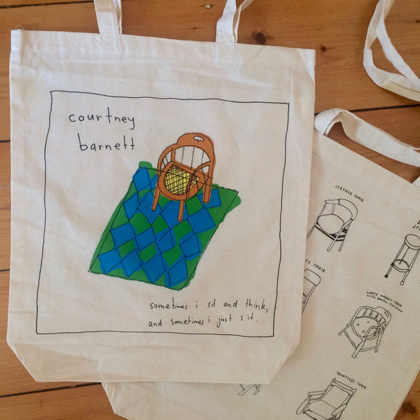COURTNEY BARNETT Sometimes I Sit TOTE BAG. SALE, TOTE BAG. Official merchandise exclusive to Milk! Records Store.