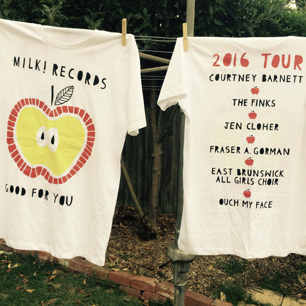 MILK! RECORDS Good For You Tour TSHIRT