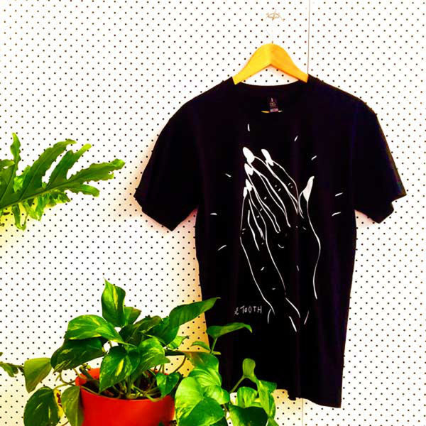 LOOSE TOOTH Praying Witch Hands TSHIRT. TSHIRT. Official merchandise exclusive to Milk! Records Store.