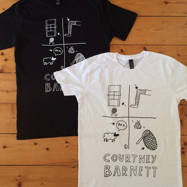 COURTNEY BARNETT Court Knee Bar Net TSHIRT. SALE, TSHIRT. Official merchandise exclusive to Milk! Records Store.