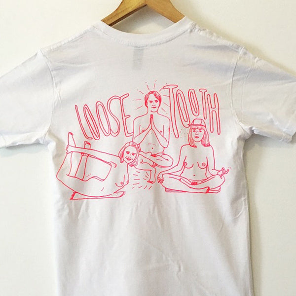LOOSE TOOTH Nude Yoga TSHIRT
