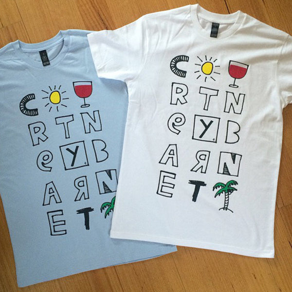 COURTNEY BARNETT Tropical TSHIRT. SALE, TSHIRT. Official merchandise exclusive to Milk! Records Store.