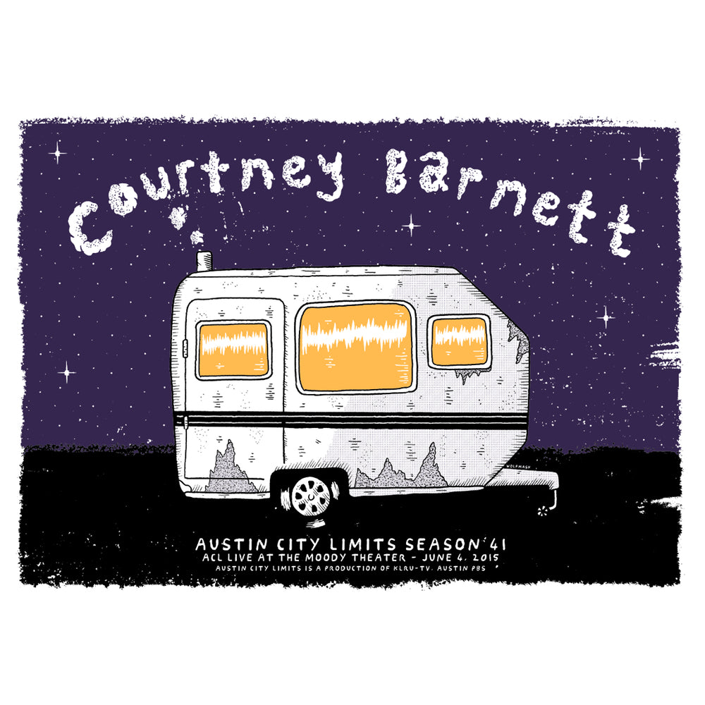 COURTNEY BARNETT [AUSTIN CITY LIMITS - 4 JUNE 2015 - WOLFMASK] Assorted Tour Posters