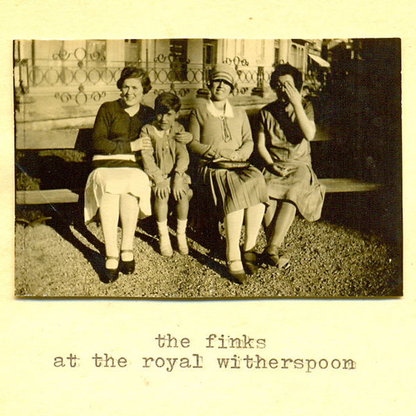 THE FINKS At The Royal Witherspoon. CASSETTE, DIGITAL. Official merchandise exclusive to Milk! Records Store.
