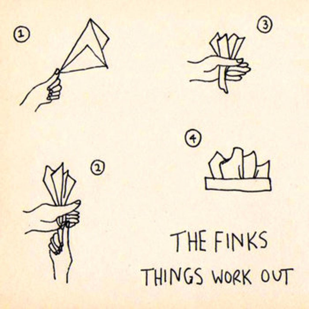 THE FINKS Things Work Out. CD, DIGITAL. Official merchandise exclusive to Milk! Records Store.
