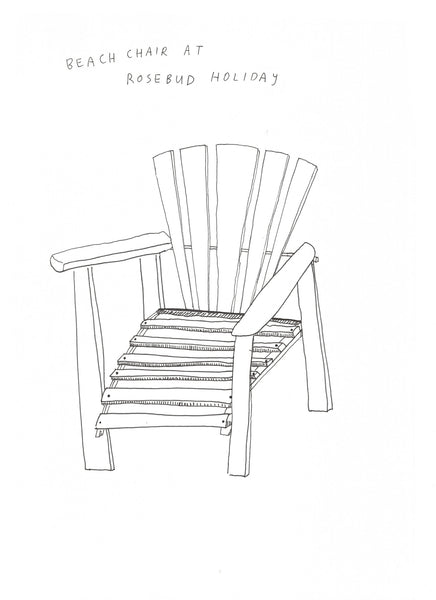 COURTNEY BARNETT Assorted Chairs A2 Print. PRINT, SALE. Official merchandise exclusive to Milk! Records Store.