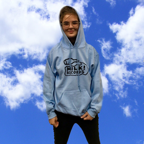 MILK! RECORDS Baby Blue Hoodie JUMPER