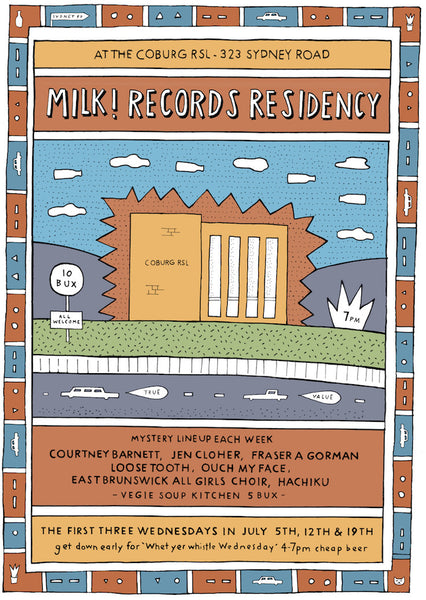 MILK! RECORDS Coburg RSL Residency TICKETS