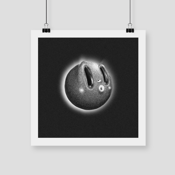 "CELESTE POTTER ART ""Moon Face"" Giclee Print. PRINT. Official merchandise exclusive to Milk! Records Store."