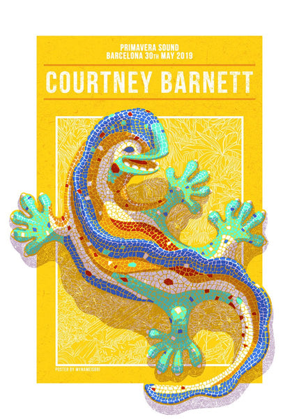 COURTNEY BARNETT [PRIMAVERA SOUND BARCELONA - 30 MAY 2019 - SABRINA GABRIELLI] Assorted Tour Posters