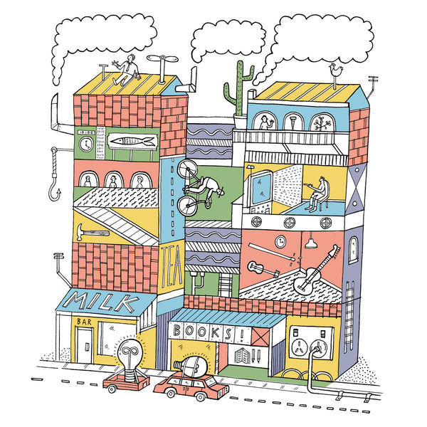 "STEPH HUGHES ""Old House"" A2 Giclee Print. PRINT. Official merchandise exclusive to Milk! Records Store."
