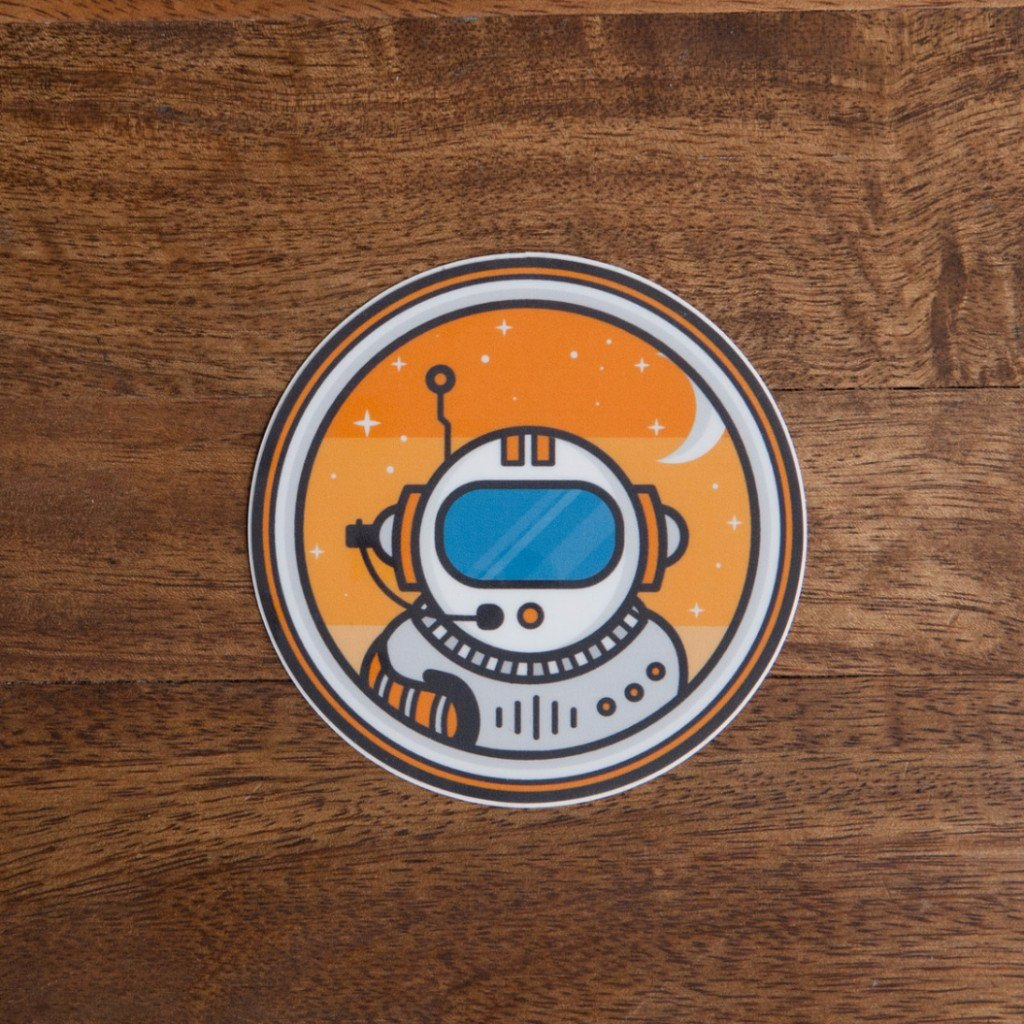 Astronaut Sticker - Tacklebox Design Co.