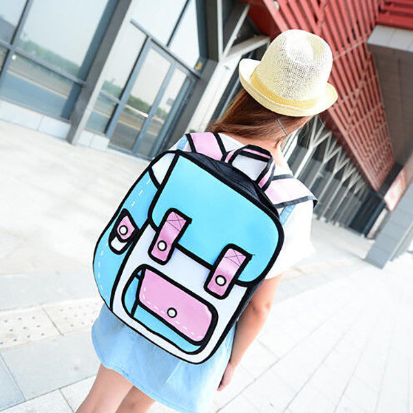 2D Backpack Stitched (2 Colors)