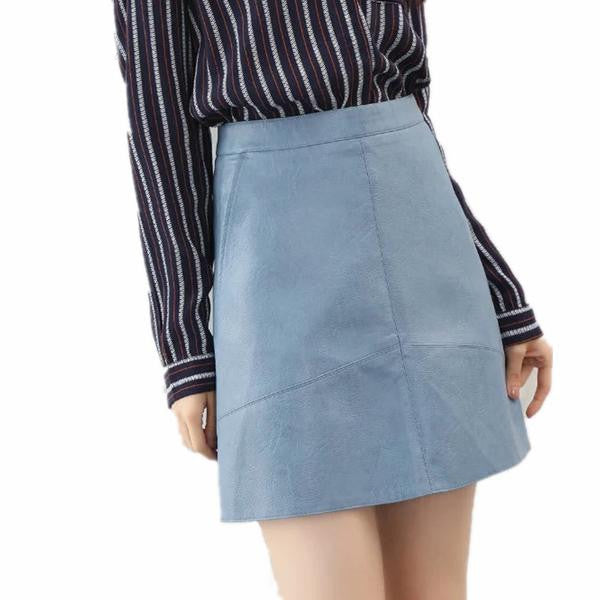 Faux Leather Skirt (3 Colors)