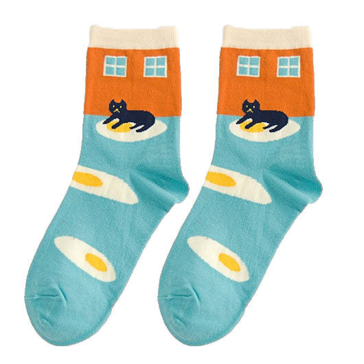 Kitty Egg Socks