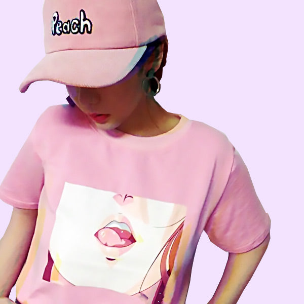 Anime Tongue Tee