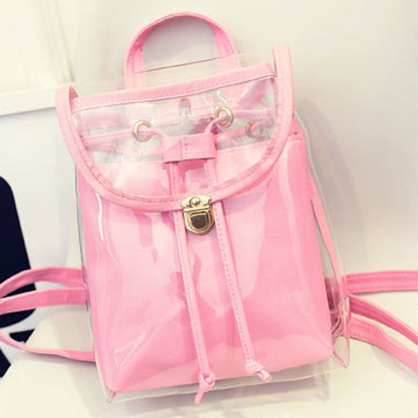 Transparent Buckle Backpack