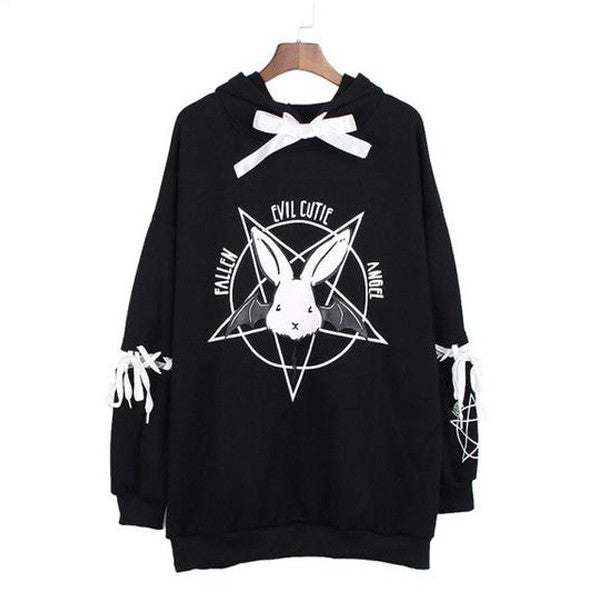 Pentagram Ribbon Hoodie (2 Colors)
