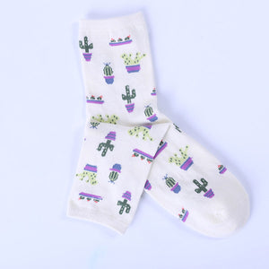 Potted Cactus Socks (5 Colors)